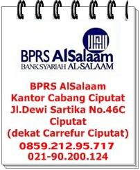 Jaringan Kantor BPRS AlSalaam Jabodetabek