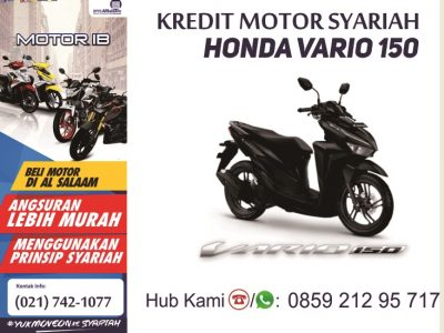 Kredit Syariah Motor Honda Vario 150 BPRS Al Salaam