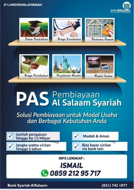 Brosur Pembiayaan Bank Syariah BPRS AlSalaam Pinjaman Multiguna