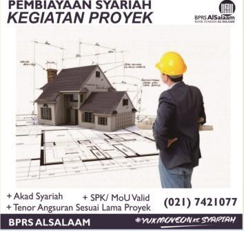 Pembiayaan Proyek SPK kegiatan modal usaha bprs alsalaam