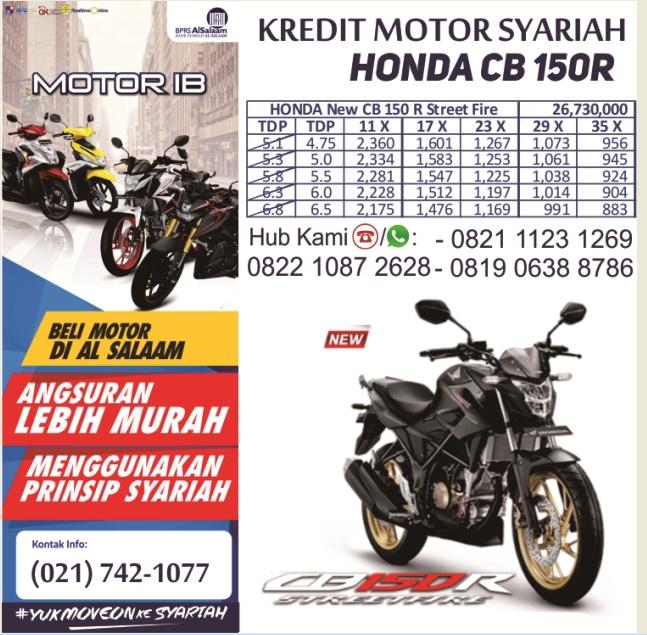 produk solusi kredit sepeda motor tanpa riba di lembaga pembiayaan bprs al salaam
