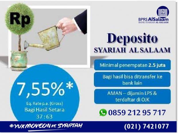 Deposito Syariah Berjangka BPRS Al Salaam