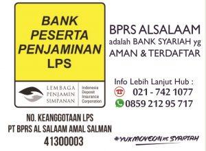Bank Syariah Al Salaam Anggota dan Terdaftar LPS jadi Aman