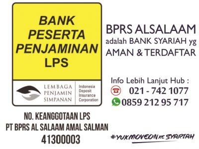 BPRS Al Salaam Aman dan Terdaftar Anggota LPS
