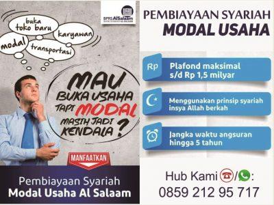 Pembiayaan Syariah Modal Usaha | Pinjaman Dana BPRS AlSalaam