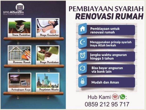 Pembiayaan Syariah Al Salaam Renovasi Rumah
