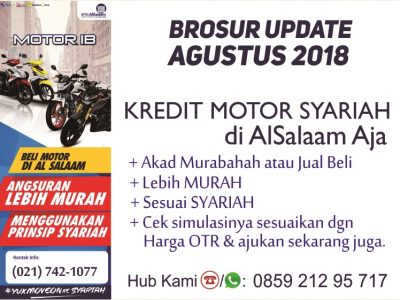 Brosur Update Agustus 2018 Kredit Motor Syariah AlSalaam