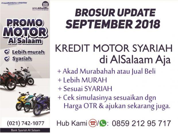 Update Price list Angsuran Kredit Motor Syariah September 2018