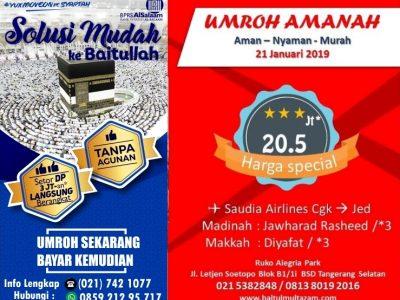 BMI Wisata Umroh 2x Jumat Desember 2018 & Umrah Januari 2019