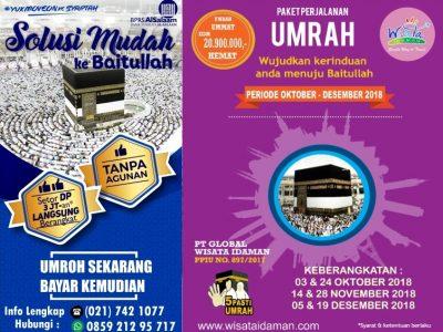 Update Keberangkatan Umrah or Umroh Oktober sd Desember 2018