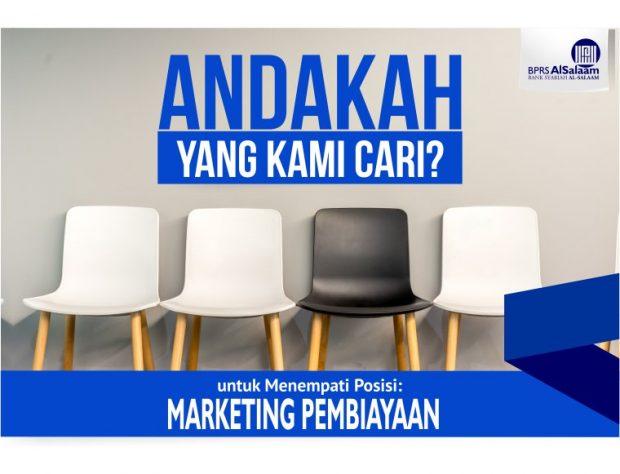 Lowongan Kerja Marketing Pembiayaan BPRS Alsalaam Kc Ciputat
