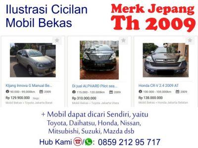 Simulasi Cicilan Pembiayaan Kredit Mobil Bekas Syariah 2009