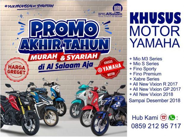 Promo Ahir Tahun 2018 Pembiayaan Syariah Kredit Motor NoRiba