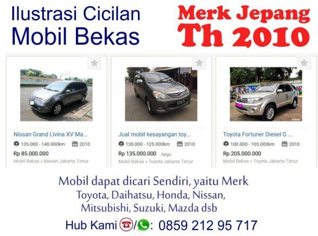Simulasi Pembiayaan Cicilan Kredit Syariah Mobil Bekas 2010