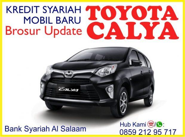 Brosur Update Kredit Syariah Mobil Baru Toyota Calya No Riba