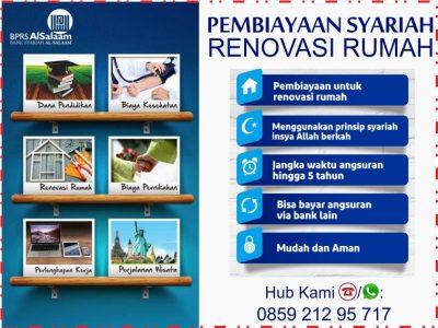 Pembiayaan Renovasi Rumah 100% Pinjaman Syariah Tanpa Riba