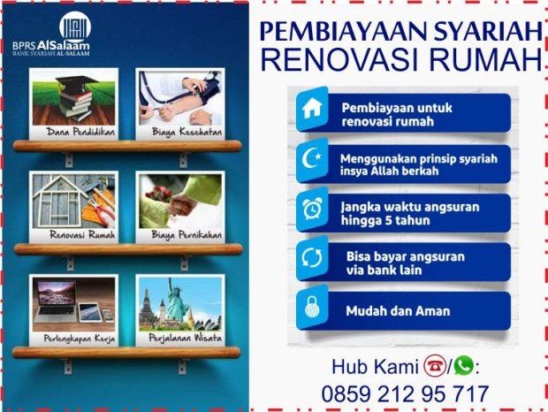 Pembiayaan Renovasi Rumah 100 Pinjaman Syariah Tanpa Riba