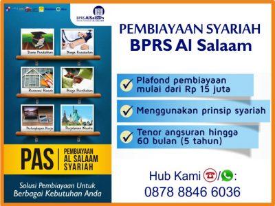 Pinjaman Dana Syariah BPRS AlSalaam Pembiayaan Multiguna