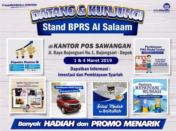 Open Booth Stand BPRS Al Salaam di Kantor Pos Sawangan Depok