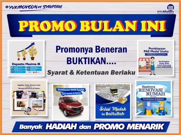 Promo Terbaru Produk Investasi / Pembiayaan BPRS Al Salaam