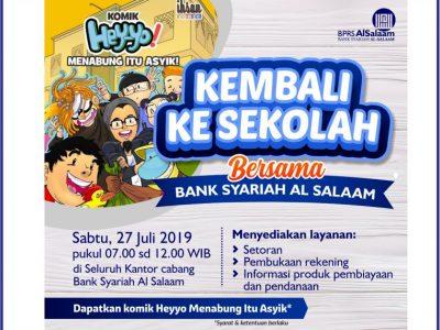 Jadwal Weekend Banking BPRS AlSalaam Bulan Juli 2019