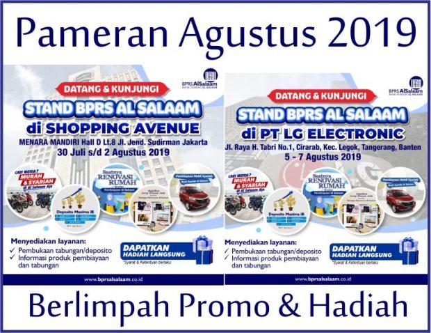 Pameran Produk BPRS AlSalaam Agustus 2019 Jakarta Tangerang