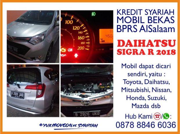 Pembiayaan Syariah Kredit Mobil Bekas Daihatsu Sigra R 2018