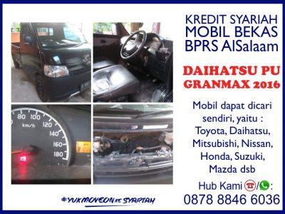 Kredit Syariah Mobil Bekas Daihatsu Pick Up PU Grandmax 2016