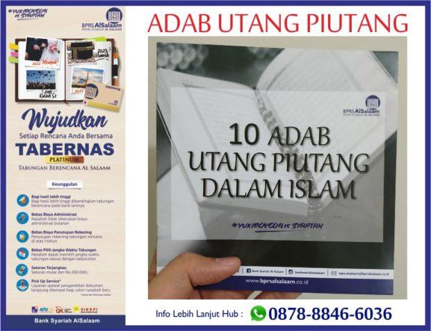 Buku Saku BPRS AlSalaam 10 Adab Utang Piutang Dalam Islam