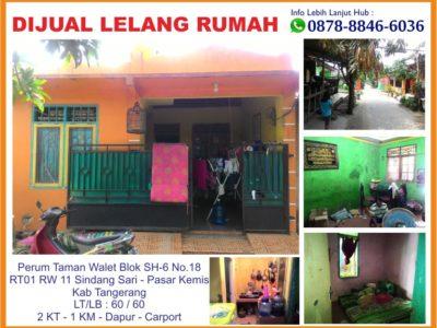 Jual Cepat Lelang Rumah Perumahan Taman Walet Kab Tangerang