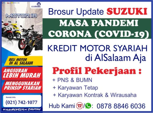 Cicilan Kredit Motor Syariah AlSalaam Suzuki Pandemi Covid19
