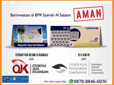 Realisasi Bagi Hasil Deposito Syariah BPRS AlSalaam Mei 2020