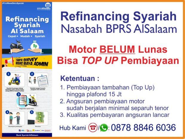 Refinancing Syariah Motor Nasabah Aktif dan Lunas AlSalaam