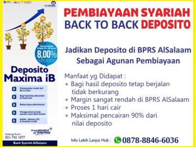 Pembiayaan Syariah Agunan Bilyet Deposito di BPRS AlSalaam
