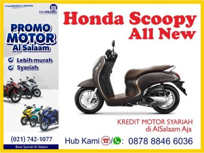 Kredit Motor Syariah Honda All New Scoopy 2021 Bebas Riba