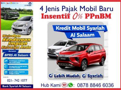 Pajak PPnBM 0% Mobil Baru Kredit Syariah BPRS AlSalaam