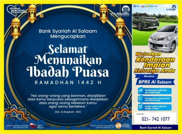 Promo Ramadhan BPRS AlSalaam 1442 H April Mei 2021