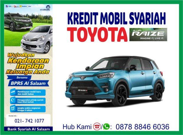 Kredit Mobil Syariah Raize Toyota Baru BPRS Al Salaam